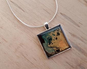 Unique pendants etsy unique pendants pebeo pendant pebeo jewelry pebeo paint pebeo necklace gifts mozeypictures Choice Image