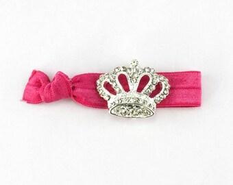 Crown Hair Tie - 1 Rhinestone Elastic Hair Ties that Double as Bracelets