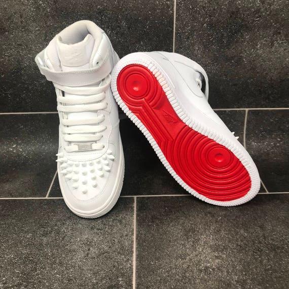 CUSTOM Nike x Louboutin Style | Air Force One | AF1 | Red Bottom | Nike Air  | Air Force 1 High | AF1 Low | AF1 Mid