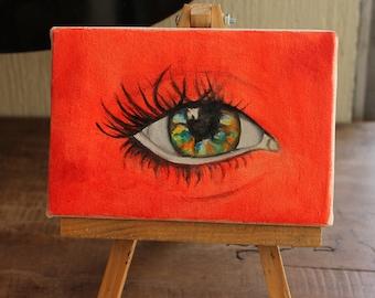 Bright light oil painting