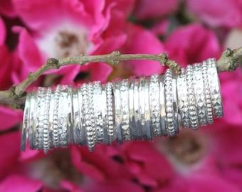 1 Silver Stacking Ring