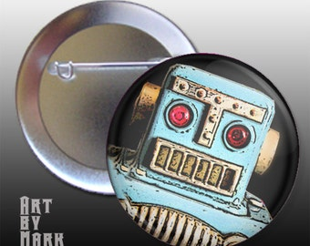 Cool Retro Robot Button