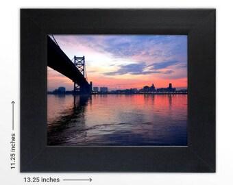 The Bridge 8x10 in. Print Framed