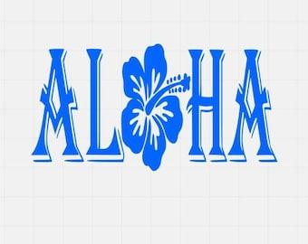Aloha Vinyl Decal, Vinyl Sticker, Car Decal, Car Sticker, Laptop Decal, Laptop Sticker,Vinyl Car Sticker, Car Window Decal,
