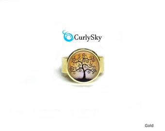 Golden Ring Amber Gold Ring Golden Amber Ring Golden Tree Ring Gold Statement Ring Amber Tree Ring Gold Amber Ring Amber Gold Jewelry Ring