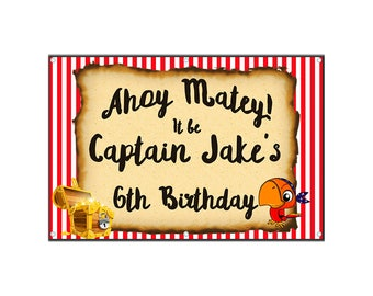 Pirate Birthday Banner - Vinyl