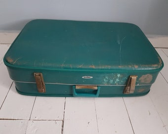 Vintage Cheney Suitcase - Green - Vintage Luggage - Antler