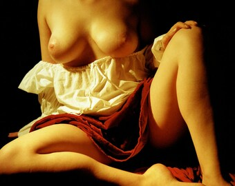 Artistic nude photo print with painting look - Caravaggio on Film - 03