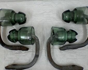 Studs EDF ELECTROVERRE glass insulators
