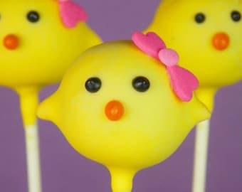 Easter Chicks Cake Pops