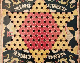 Vintage Chinese Checkers 2 Game Board Photograph Fine Art Print