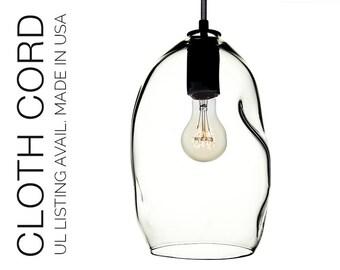 Bubble Hand Blown Glass Pendant Light- USA MADE