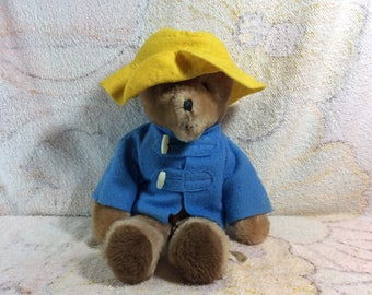 Vintage Paddington Bear Plush Stuffed Animal Eden Toys Vintage Retro Adorable Haiti Yellow Hat 70s