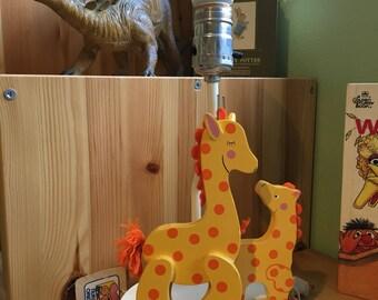 Vintage 1980 Nursery Originals Giraffe Lamp by Hallmark