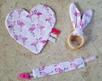 Set of games/toys baby Flamingo Pink for girl