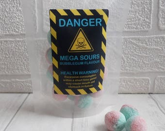 Mega Sour Bubblegum Balls - Novelty Gift, Christmas Gift, Secret Santa Gift, Stocking Filler