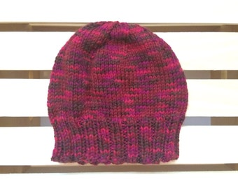 Cranberry Knit Beanie