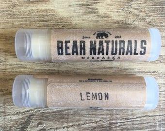 lemon - natural lip balm