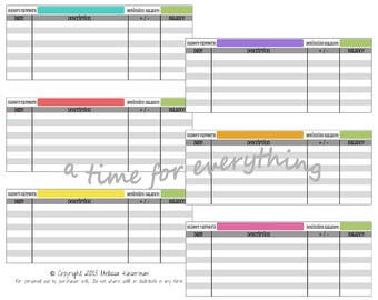Envelope system blank cash spending logs budgeting inserts   printable instant download   Simple Brights