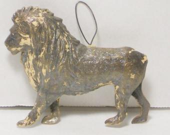 Rare Vintage Dresdan Lion Christmas Ornament, Home, Holiday