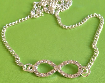 Bridal Infinity Crystal Necklace