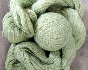 Suri Alpaca Yarn Skeins Lace Weight 1 Hank Skein 875 yards Mint Pale Green Last one