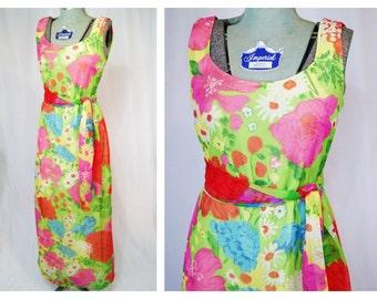 1970's funky floral maxi dress by Edith Flagg California | medium