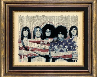 MC5 MC 5 Print Dictionary Page Original Unique giftt book page art print up cycled
