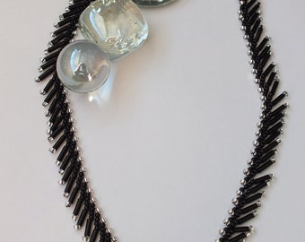 Black & Silver Russian St Petersburg Necklace