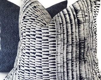 Indigo Outdoor Pillow - Blue Sunbrella Pillow - Outdoor Pillow - Sunbrella Cushion - Decorative Pillow Cover - Outdoor - PILLOW COVER ONLY