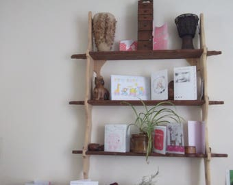 bespoke hardwood organic style shelf