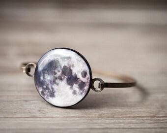 Full Moon bracelet, Full Moon jewelry Space bracelet Space jewelry Planet bracelet Astronomy bracelet Solar system, celestial women gift