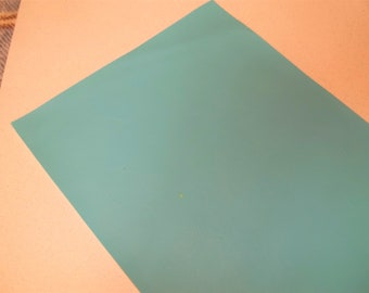 Aqua Faux Leather Sheet - DIY - Vinyl sheet - Hair Bows - Headbands - Hair Clips - Embroidery, Journal Covers, Jewelry, zippered coin purs