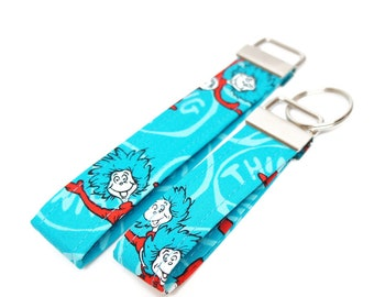 The Cat in the Hat, Dr. Seuss FOB - Key Chain / Key Fob / Wristlet - Choose Your Fabric and lenght