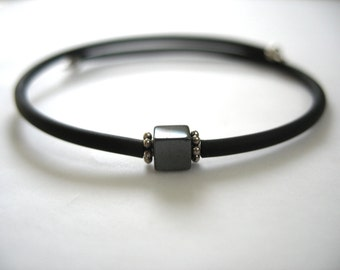 Hematite Bracelet, Hematite Stone Bracelet , Hematite Handmade Gemstone Cuff Bracelet