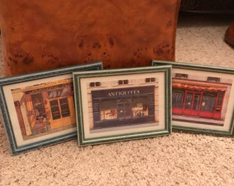 Set of three storefront pictures