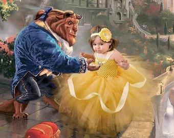 Disney Princess / Baby Halloween Costume /DRESS ONLY/ Toddler Halloween Costume / Belle Costume / Belle Dress / Belle Dress/ Princess Belle/