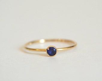 Gold Tanzanite Ring, Gold Filled Tanzanite Ring, Tanzanite Ring Gold, Stackable Ring, Stacking Ring, Dainty Ring