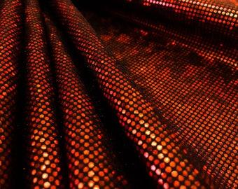 nylon lycra Hologram mettalic red wine four way Stretch Spandex fabric By Yard