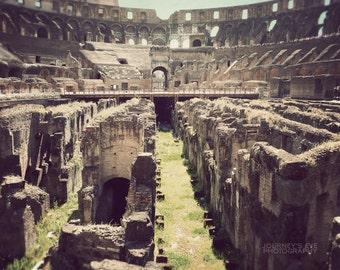Colosseum photograph, Rome art, Italy photography, photo print, Italian decor, Rome photograph - Gladiator's Journey