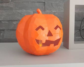 3D Printed Geometric Halloween Pumpkin