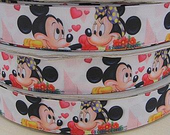 5 YDS  Minnie Mouse Valentine Ribbon