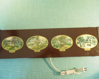 Vintage Currier And Ives Electric Hot Plate -  4 Seasons Warming Tray