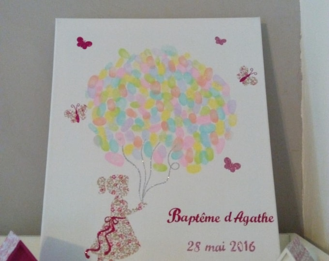 Applied fusible baptism little girl and tree prints liberty Eloise pink and glitter flex patch iron christening coat