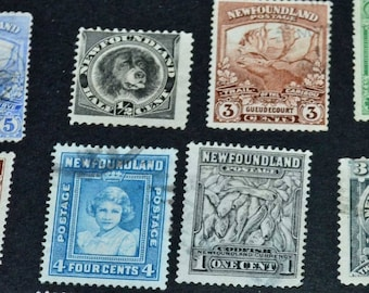 Newfoundland 1910-1940's 28 stamps 4 mint some very rare