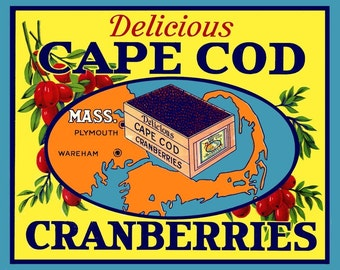 Cape Cod Mass Cranberry  Refrigerator Magnet