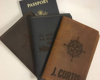 Personalized Passport Cover Passport Holder Passport Wallet Leather Passport Holder Gift for Couple Gift for Groom Bride Wedding Gift