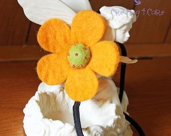 Felt Flower Headband - Yellow AND Magenta