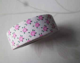 x 3,5 meters ribbons adhesive washi masking tape 15 mm flower pattern cotton