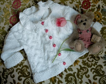 Emily Baby Sweater and Hat Knitting Pattern ONLINE DOWNLOAD